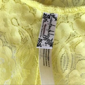 Free People Intimates & Sleepwear - FREE PEOPLE Yellow Galloon Bralette